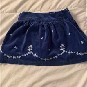 Janie and jack velvet skirt